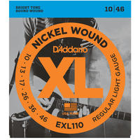 D'Addario EXL110 10-46 Nickel Wound Regular Light Electric Guitar Strings