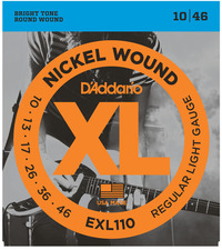 D'Addario EXL110 10-46 Nickel Wound Regular Light Electric Guitar Strings - Cover