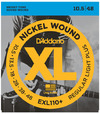 D'Addario EXL110+ 10.5-48 Nickel Wound Regular Light Plus Electric Guitar Strings