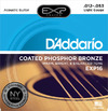 D'Addario EXP16 12-53 Coated Phosphor Bronze Light Acoustic Guitar Strings