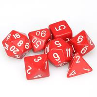 Chessex - Set of 7 Polyhedral Dice - Opaque Red & White