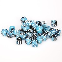 Chessex - 12mm D6 36 Dice Block - Gemini Black-Shell with White - Cover