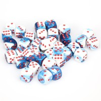 Chessex - 12mm D6 36 Dice Block - Gemini Astral Blue-White with Red - Cover
