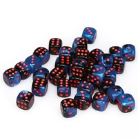 Chessex - 12mm D6 36 Dice Block - Gemini Black-Starlight with Red - Cover