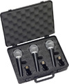 Samson R21S Dynamic Vocal Handheld Microphone with Switch - 3-Pack (Black)