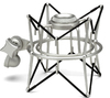 Samson SP01 Spider Shock Mount for C01/C03/Cl7 Microphones (Silver)