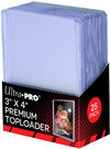 "Ultra Pro - 3"" X 4"" Super Clear Premium Toploader (25 Sleeves)"