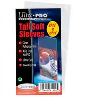 Ultra Pro - Tall Soft Card Sleeves - 2-1/2 X 4-3/4 (100 Sleeves)