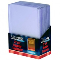 "Ultra Pro - Toploader - 3"" X 4"" Clear Regular (25 Pieces) - Cover"