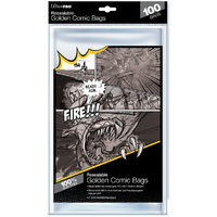 Ultra Pro - Comic Bags - Golden Size Re-Sealable (100 Bags)