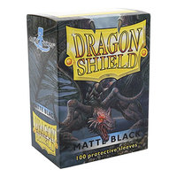 Dragon Shield - Standard Sleeves - Matte Black (100 Sleeves) - Cover