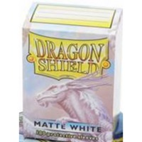 Dragon Shield - Standard Sleeves - Matte White (100 Sleeves) - Cover