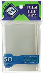 Fantasy Flight Games Ultra Proply Clear Sleeves - Standard American Board Game (50 Sleeves) - Cover