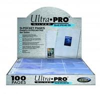 Ultra Pro - Silver 9-Pocket Pages (11 Hole) Display (100 Pages) - Cover