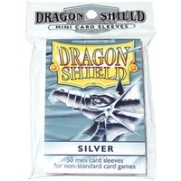Dragon Shield - Small Sleeves - Silver (50 Sleeves) - Cover