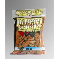 Dragon Shield - Standard Sleeves - Red (50 Sleeves) - Cover