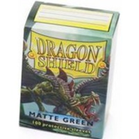 Dragon Shield - Standard Sleeves - Matte Green (100 Sleeves) - Cover