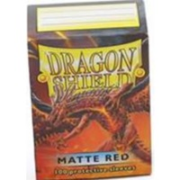 Dragon Shield - Standard Sleeves - Matte Red (100 Sleeves) - Cover