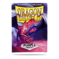 Dragon Shield - Standard Sleeves - Matte Purple (100 Sleeves) - Cover