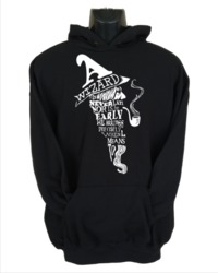 A Wizard Is Never Late Womens Hoodie Black (Medium) - Cover