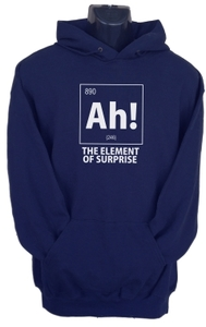 Ah! the Element of Surprise Womens Hoodie Navy (Large) - Cover