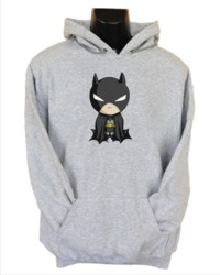 Baby Batman Womens Hoodie Grey (Medium) - Cover