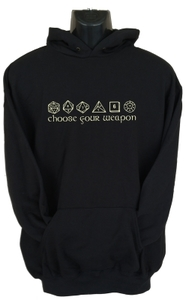 Choose Your Weapon Mens Hoodie Black (Large) - Cover