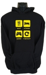 Eat Sleep Game Repeat 2 Womens Hoodie Black (Medium)