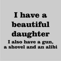 I Have a Beautiful Daughter Womens Hoodie Grey (X-Large) - Cover