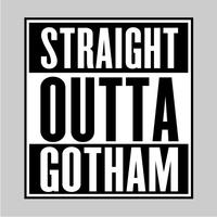 Straight Outta Gotham Mens Hoodie Grey (Large)