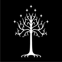 The Tree of Gondor Womens Hoodie Black (Small) - Cover