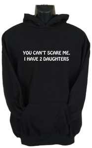 You Can'T Scare Me Womens Hoodie Black (X-Large) - Cover