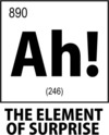 Ah! the Element of Surprise Womens T-Shirt White (Large)