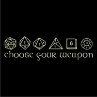 Choose Your Weapon Mens T-Shirt Black (Large) - Cover