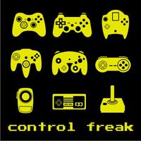 Control Freak Mens T-Shirt Black (X-Large)