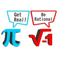 Get Real Be Rational Mens T-Shirt White (Small)