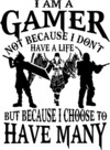 I Am a Gamer Mens T-Shirt White (X-Large)