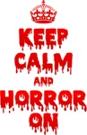 Keep Calm and Horror On Womens T-Shirt White (X-Small)