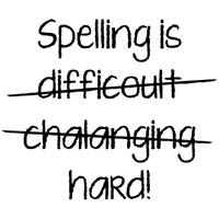 Spelling Is Hard Womens T-Shirt White (XX-Large)