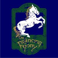 The Prancing Pony Womens T-Shirt Navy (Medium)