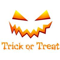 Trick or Treat Womens T-Shirt White (X-Small)
