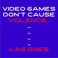 Video Game Violence Mens T-Shirt Royal Blue (XXXX-Large)