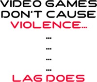 Video Game Violence Mens T-Shirt White (X-Large) - Cover