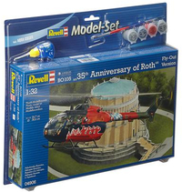 Revell - 1/32 - BO 105 35th Anniversary of Roth Fly-Out Version Gift Set (Plastic Model Kit) - Cover