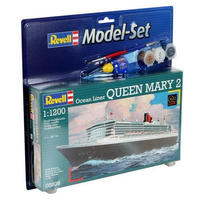 Revell - 1/1200 - Queen Mary 2 Model Set (Plastic Model Set)