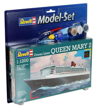 Revell - 1/1200 - Queen Mary 2 Model Set (Plastic Model Set) - Cover