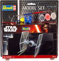 Revell - 1/110 - Star Wars - TIE Fighter [Includes brush, glue & paints] (Plastic Model Set) - Cover