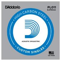 D'Addario PL011.011 Single Plain Steel String