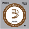 D'Addario PB032 .032 Phosphor Bronze Wound Single String