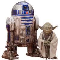 Star Wars Artfx+ Series R2-D2 & Yoda On Dagobah 1/10 Scale Action Figures Set of 2 (+Bonus Spirit Yoda)